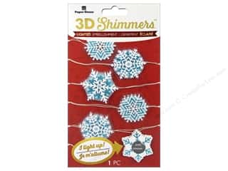 Paper House Sticker 3D LED Shimmer Snowflake Garland