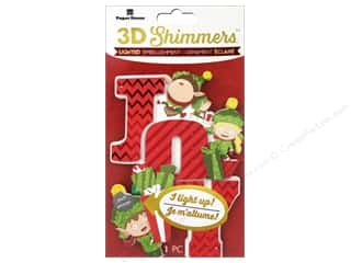 stickers: Paper House Sticker 3D LED Shimmer Elf Joy