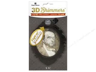 Paper House 3D Shimmers Stickers - Creepy Portrait
