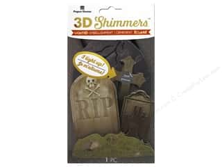 Paper House Sticker 3D LED Shimmer Graveyard