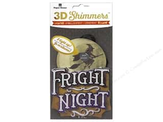 stickers: Paper House Sticker 3D LED Shimmer Witch