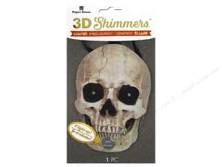 stickers: Paper House Sticker 3D LED Shimmer Skull