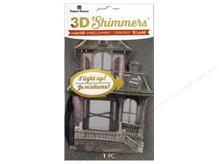 stickers: Paper House Sticker 3D LED Shimmer Haunted House