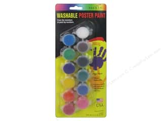 Palmer Washable Poster Paint Set 12 Pot Kids