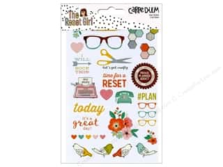 Simple Stories: Simple Stories Collection Carpe Diem Reset Girl Sticker Clear