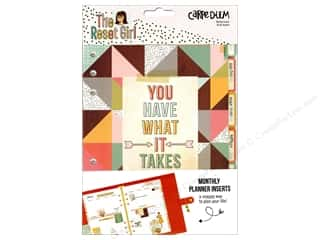 Simple Stories: Simple Stories Collection Carpe Diem Reset Girl Monthly Insert