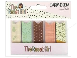 Simple Stories: Simple Stories Collection Carpe Diem Reset Girl Page Flags