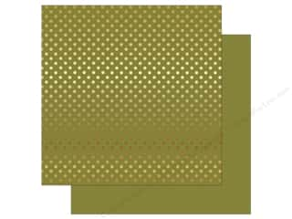 Echo Park 12 x 12 in. Paper Dots & Stripes Autumn Gold Foil Green (25 sheets)