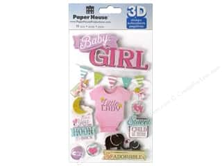 Paper House Sticker 3D Baby Girl