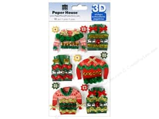 Paper House Sticker 3D Ugly Sweaters