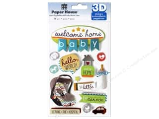 Paper House Sticker 3D Welcome Home Baby