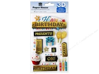 Paper House Sticker 3D Happy Birthday 2