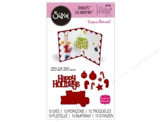 sentiment dies: Sizzix Thinlits Die Set 10 pc. Happy Holidays 3-D Drop-ins Sentiment