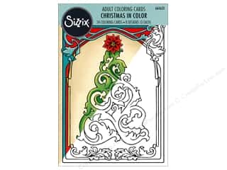 Sizzix Accessories Jen Long Coloring Cards Christmas In Color