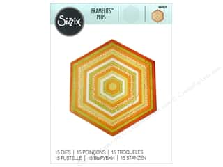 die cutting machine: Sizzix Dies Framelits Plus Set Hexagons