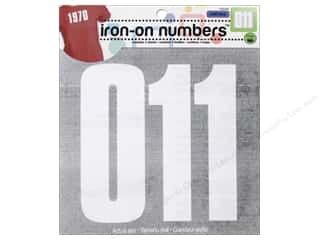 Dritz Soft Flex Iron-On Numbers - 5 in. White