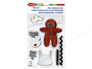 die cutting machines: Stampendous Clear Stamps & Die Gingerbread Baker