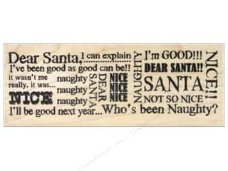 stamps: Stampendous Wood Stamp Santa Words