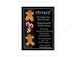 yarn: Artsi2 Wool Felt Kit Gingerbread & Candy Canes