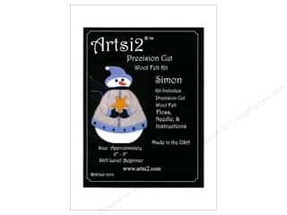 yarn & needlework: Artsi2 Precision Cut Wool Felt Kit Christmas Ornaments Snowman Simon