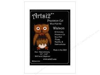 yarn & needlework: Artsi2 Precision Cut Wool Felt Kit Watson Owl