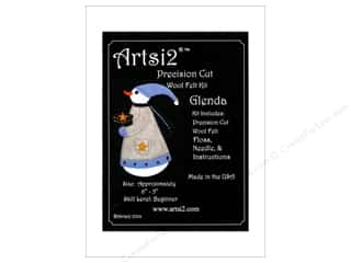 yarn & needlework: Artsi2 Precision Cut Wool Felt Kit Snowwoman Glenda
