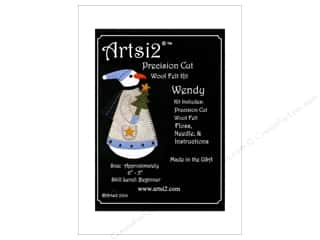 yarn & needlework: Artsi2 Precision Cut Wool Felt Kit Snowwoman Wendy