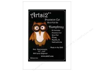 yarn & needlework: Artsi2 Precision Cut Wool Felt Kit Humphrey Owl