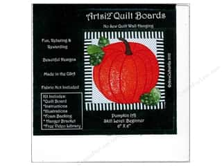 sewing & quilting: Artsi2 Quilt Board No Sew Quilt Wall Hanging Kit 6 x 6 in. Pumpkin