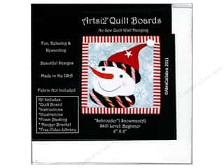 Artsi2 Quilt Board No Sew Quilt Wall Hanging Kit 6 x 6 in. Snowman Schroeder