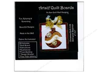 Sewing & Quilting: Artsi2 Quilt Board No Sew Quilt Wall Hanging Kit 6 x 6 in. Christmas Bulb #2