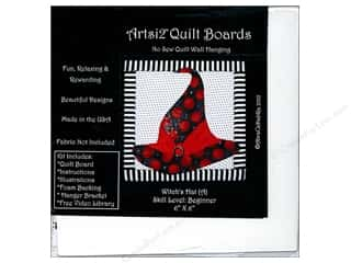 projects & kits: Artsi2 Quilt Board No Sew Quilt Wall Hanging Kit 6 x 6 in. Witch's Hat