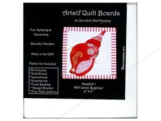 Sewing & Quilting: Artsi2 Quilt Board No Sew Quilt Wall Hanging Kit 6 x 6 in. Seashell #1