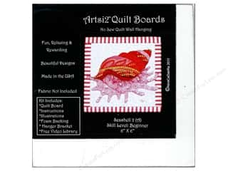 Sewing & Quilting: Artsi2 Quilt Board No Sew Quilt Wall Hanging Kit 6 x 6 in. Seashell #2