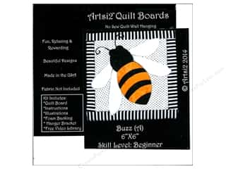 Artsi2 Quilt Board No Sew Quilt Wall Hanging Kit 6 x 6 in. Bee