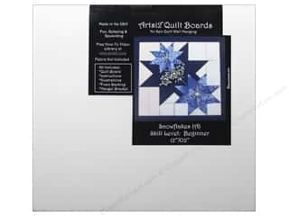 projects & kits: Artsi2 Quilt Board No Sew Quilt Wall Hanging Kit 12 x 12 in. Snowflakes
