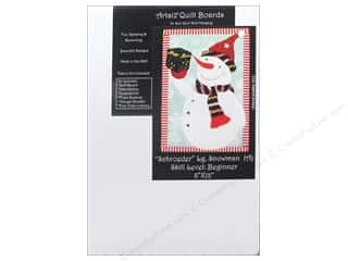 Sewing & Quilting: Artsi2 Quilt Board No Sew Quilt Wall Hanging Kit 8 x 12 in. Snowman Schroeder Large