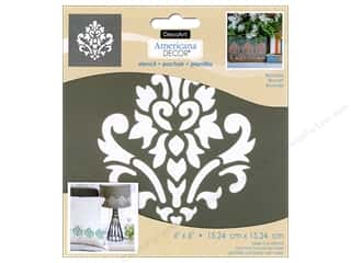 DecoArt Americana Decor Stencil 6 x 6 in. Brocade