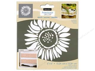 DecoArt Americana Decor Stencil 6 x 6 in. Sunflower