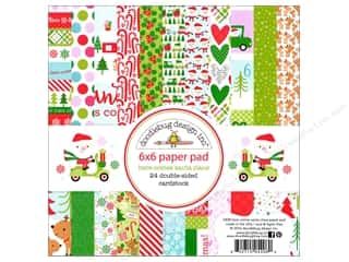 scrapbooking & paper crafts: Doodlebug 6 x 6 in. Paper Pad Here Comes Santa Claus