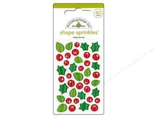 Clearance: Doodlebug Sprinkles Stickers Here Comes Santa Claus Holly Berries