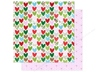 Doodlebug 12 x 12 in. Paper Here Comes Santa Claus Holiday Hearts (25 sheets)