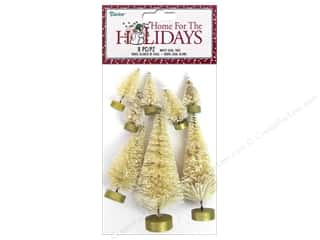 craft & hobbies: Darice Holiday Christmas Sisal Tree White 8 pc