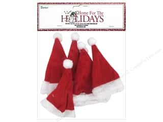 Darice Holiday Mini Christmas Hat 6 pc