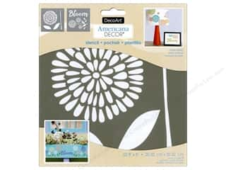 craft & hobbies: DecoArt Americana Decor Stencil 8 x 8 in. Garden Bloom