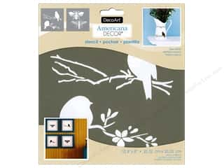 decorative bird: DecoArt Americana Decor Stencil 8 x 8 in. Bees & Birds