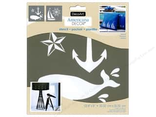 craft & hobbies: DecoArt Americana Decor Stencil 8 x 8 in. Nautical
