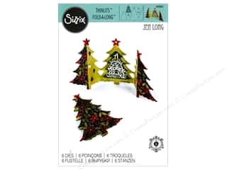 dies: Sizzix Thinlits Die Set 6 pc. Christmas Tree Fold-a-Long Card