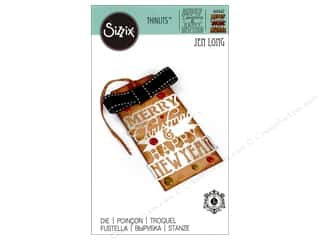 die cuts: Sizzix Thinlits Die 1 pc. Merry Christmas & Happy New Year Phrase