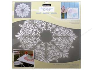 craft & hobbies: DecoArt Americana Decor Stencil 18 x 18 in. Fleur Medallion